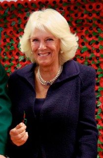 Duchess of Cornwall Making Poppies With Veterans At The Poppy Factory